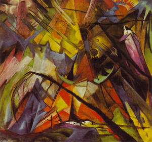 Franz Marc - Tyrol - (oil painting reproductions)