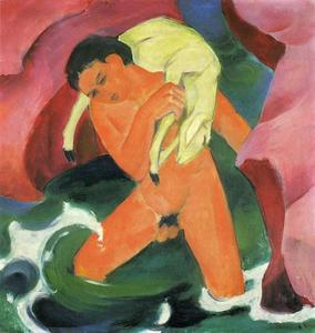 Franz Marc - Young Boy with a Lamb