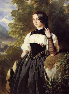 Franz Xaver Winterhalter - A Swiss Girl from Interlaken