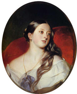 Order Paintings Reproductions | Queen Victoria, 1843 by Franz Xaver Winterhalter (1805-1873, Germany) | WahooArt.com