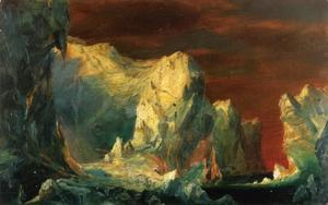 Frederic Edwin Church - Study for 'The Icebergs'