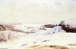 Frederic Edwin Church - The Hudson Valley in Winter from Olana