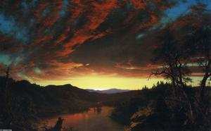 Frederic Edwin Church - Twilight in the Wilderness - (paintings reproductions)