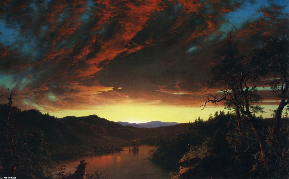 Twilight in the Wilderness, Oil On Canvas by Frederic Edwin Church (1826-1900, United States)