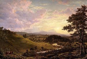 Frederic Edwin Church - View near Stockbridge, Mass.