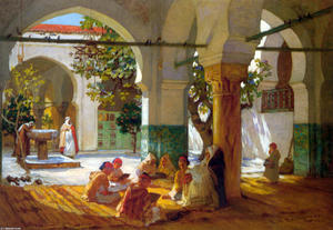 Frederick Arthur Bridgman - Learning the Qu'ran