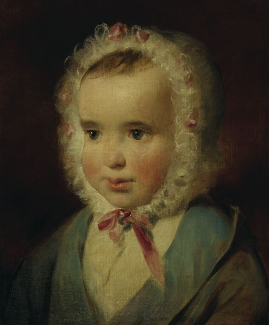 Portrait of Princess Sophie von Liechtenstein at the Age of about One and a Half, Oil by Friedrich Ritter Von Amerling (1803-1887)