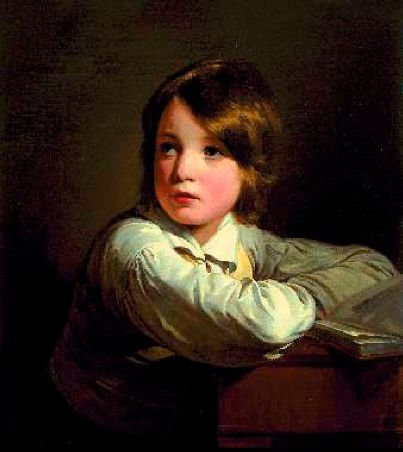 Portrait of younger brother Joseph, Oil by Friedrich Ritter Von Amerling (1803-1887)