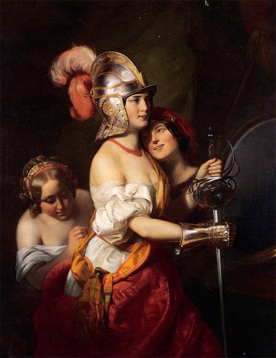 The Armed Maiden by Friedrich Ritter Von Amerling (1803-1887) | WahooArt.com