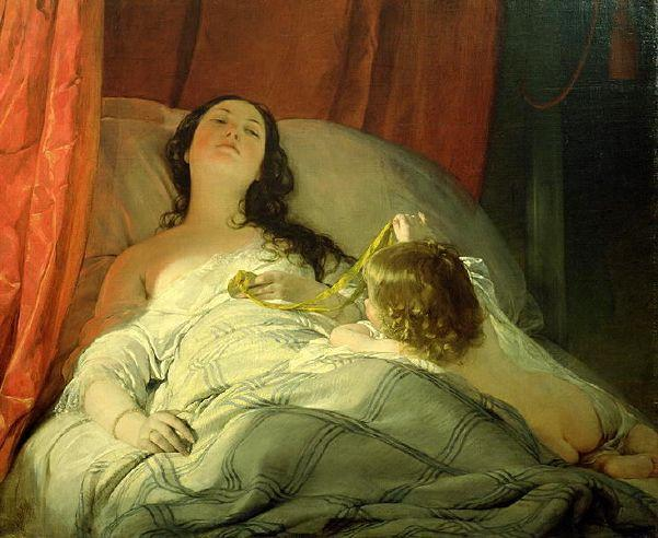 The Drowsy One by Friedrich Ritter Von Amerling (1803-1887)