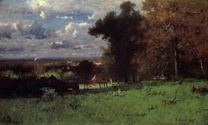George Inness - A Breezy Autumn