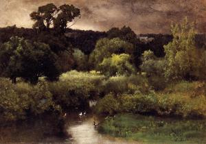 George Inness - A Gray, Lowery Day