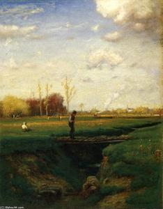 George Inness - A Short Cut, Watchung Station, N.J.