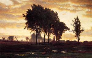George Inness - Landscape-sunset