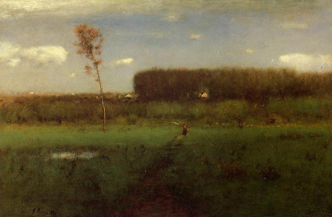 October Noon, 1891 by George Inness (1825-1894, United States) | Reproductions George Inness | WahooArt.com