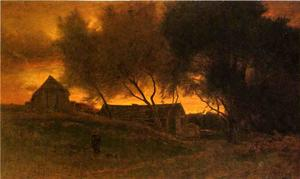 Order Museum Quality Copies | The Gloaming, 1875 by George Inness (1825-1894, United States) | WahooArt.com