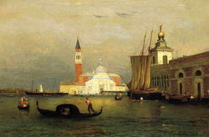 George Inness - Twilight in Venice