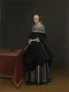 Gerard Ter Borch - Lady with a fan