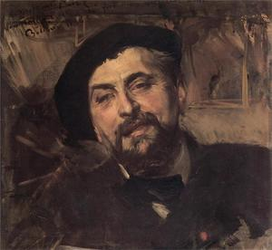 Giovanni Boldini - Portrait of the Artist Ernest Ange Duez
