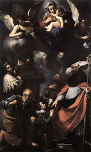 Guercino (Barbieri, Giovanni Francesco) - A Donor Presented to the Virgin