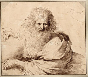 Guercino (Barbieri, Giovanni Francesco) - A study of God