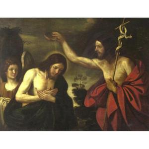 Guercino (Barbieri, Giovanni Francesco) - BAPTISM OF CHRIST