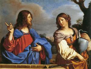 Guercino (Barbieri, Giovanni Francesco) - Jesus and the Samaritan Woman at the Well