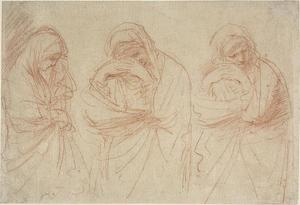 Guercino (Barbieri, Giovanni Francesco) - Madonna Mourning. Studies for the Entombment of Christ