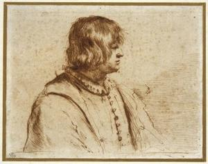 Guercino (Barbieri, Giovanni Francesco) - Profile Portrait