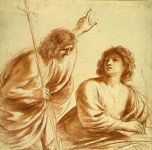 Guercino (Barbieri, Giovanni Francesco) - Saint John the Baptist and Saint John the Evangelist