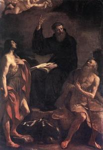 Guercino (Barbieri, Giovanni Francesco) - St Augustine, St John the Baptist and St Paul the Hermit