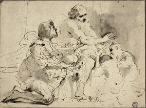 Guercino (Barbieri, Giovanni Francesco) - Study for Jacob Blessing the Sons of Joseph