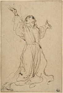 Guercino (Barbieri, Giovanni Francesco) - Study for Saint Francis Receiving the Stigmata