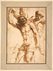 Guercino (Barbieri, Giovanni Francesco) - Study for The Martyrdom of Saint Bartholomew