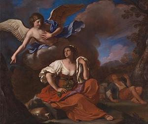 Guercino (Barbieri, Giovanni Francesco) - The Angel appears to Hagar and Ishmael