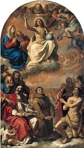 Guercino (Barbieri, Giovanni Francesco) - The glory of all saints