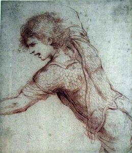 Guercino (Barbieri, Giovanni Francesco) - Warrior Kneeling with Arms Outstretched