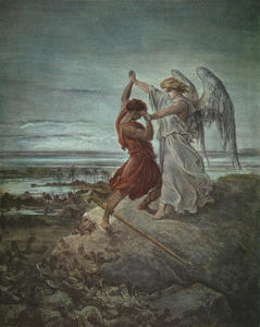 Paul Gustave Doré - Jacob Wrestling with the Angel