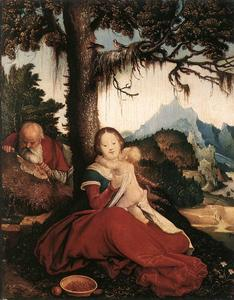 Hans Baldung - Rest on the Flight to Egypt