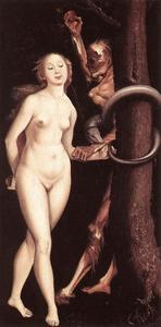 Hans Baldung - Eve, the Serpent and Death
