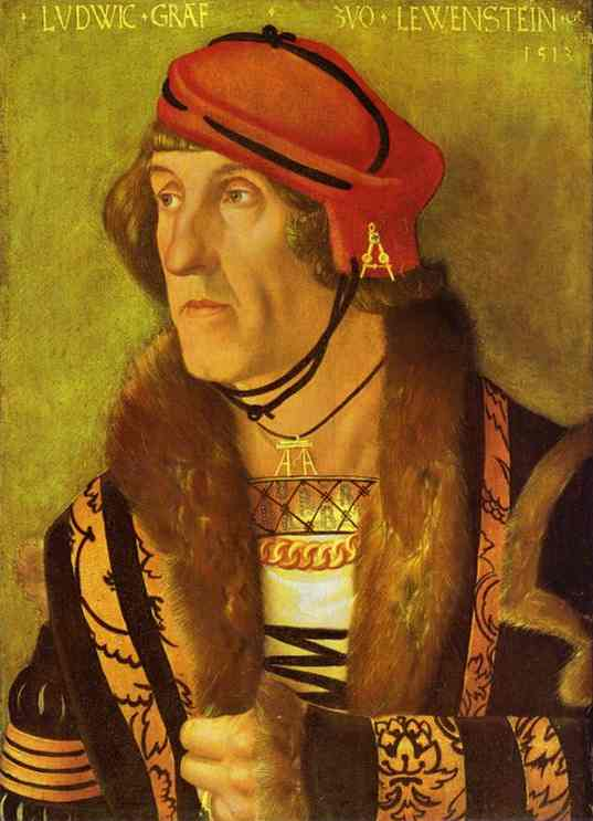 Ludwig, Count von Löwenstein by Hans Baldung (1485-1545, Germany) | Art Reproductions Hans Baldung | WahooArt.com