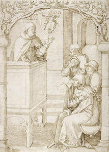 Order Museum Quality Copies | Monk Preaching by Hans Baldung (1485-1545, Germany) | WahooArt.com