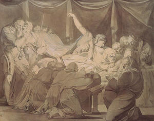 Henry Fuseli (Johann Heinrich Füssli) - The Death of Cardinal Beaufort