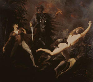 Henry Fuseli (Johann Heinrich Füssli) - Theodore Meets in the Wood the Spectre of His Ancestor Guido Cavalcanti