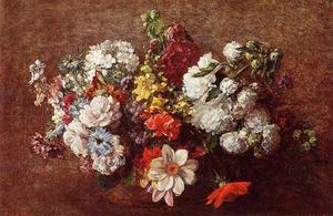 Henri Fantin Latour - Bouquet of Flowers 1