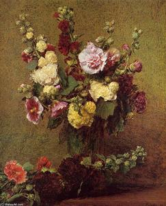 Henri Fantin Latour - Holly-hocks