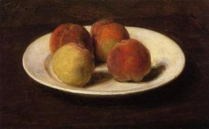 Henri Fantin Latour - Still Life of Four Peaches