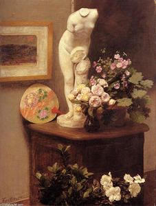 Henri Fantin Latour - Still Life With Torso And Flowers