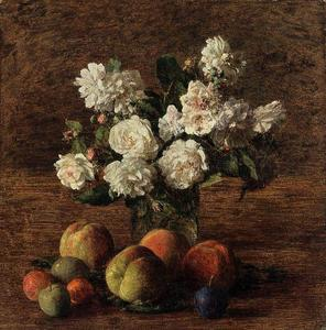 Henri Fantin Latour - Still Life. Roses and Fruit