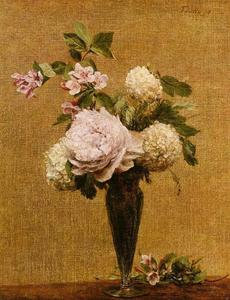 Henri Fantin Latour - Vase of Peonies and Snowballs